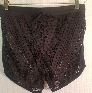 Black lace swimming pants